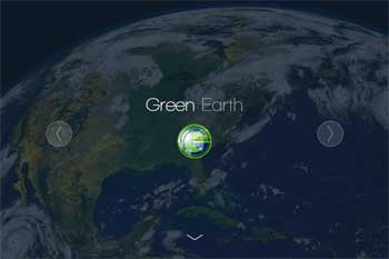 Green Earth logo and JS